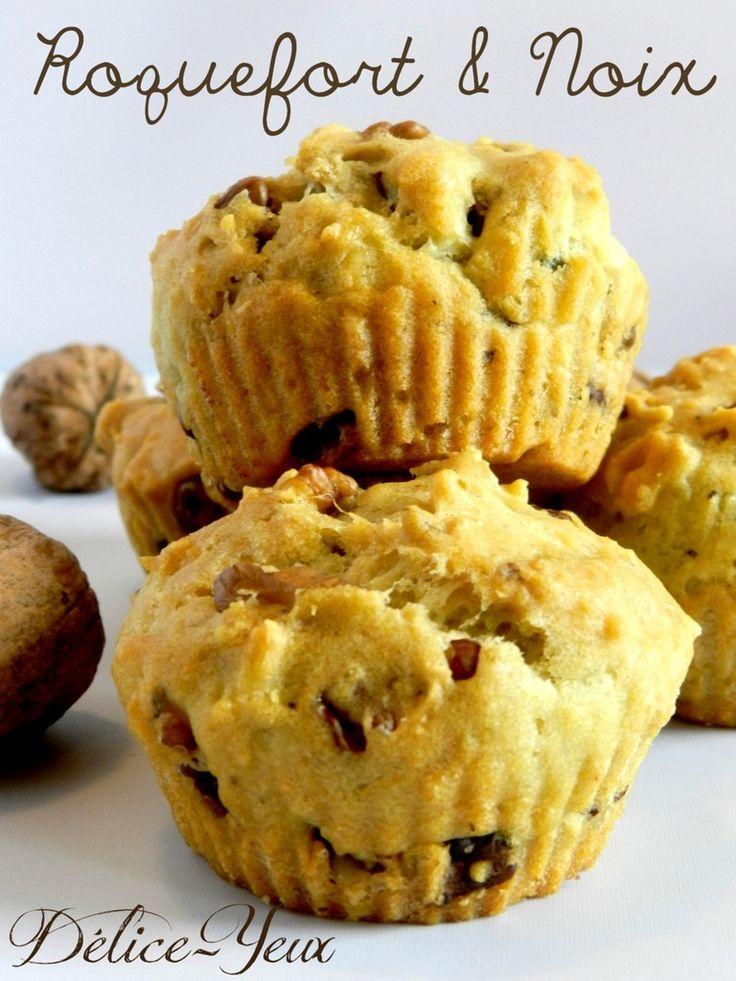 Muffins Roquefort & Noix - Délice-Yeux, l'univers gourmand de Marine