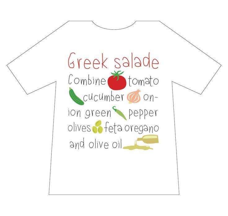 Greek culture T-shirt, Greek Salade, T-shirts, mediterraneo editions, www.mediterraneo.gr