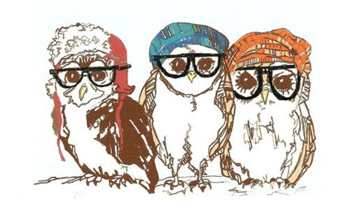 too cool for school: Like This, Worth Reading, Oupa Uil, Hipster Owls, Animal Kingdom, Books Worth, Pretty Things, Owls 3, Interesting Idea
