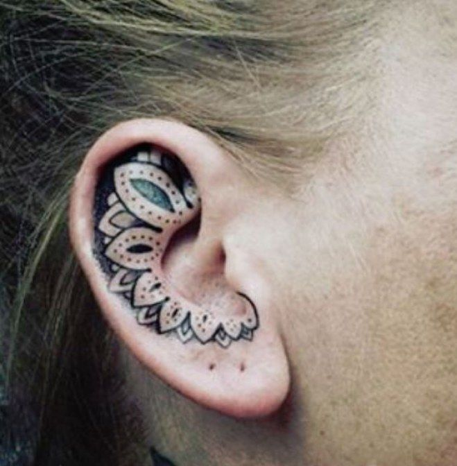 157 best tattoo ear ohr images on pinterest ear tattoos small tattoos and tatoos. Black Bedroom Furniture Sets. Home Design Ideas