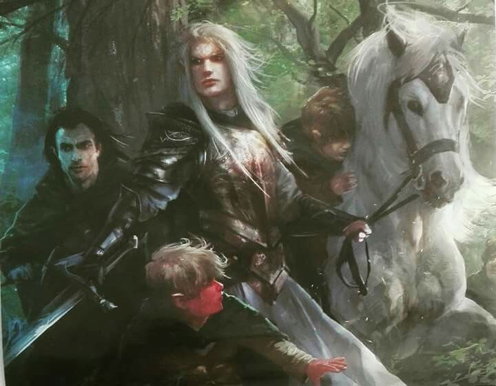 Glorfindel salvando a Frodo por Alberto dal Lago