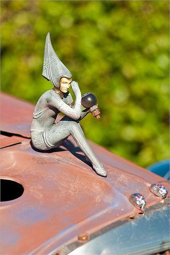Art Deco truck hood ornament, 1933 (photo by Kathy Gonzalez)