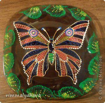 Декор предметов Витраж Роспись по стеклу керамическими крассками и контурами Краска
