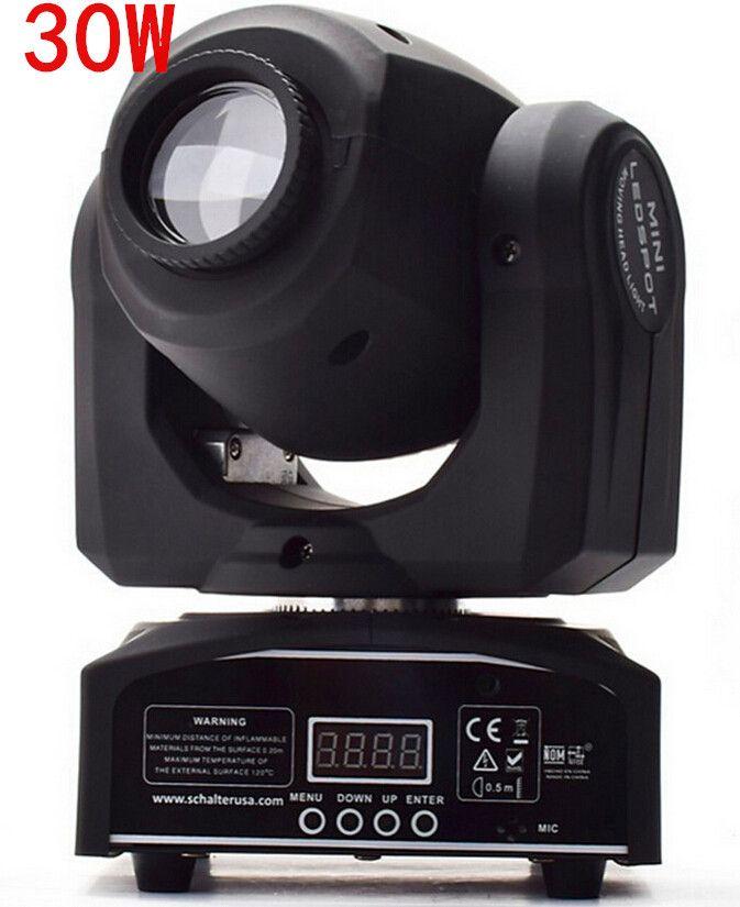 30 와트 led 자리 이동/미국 luminums 30 와트 led dj 스포트 라이트 dmx 컨트롤러 디스코 빛