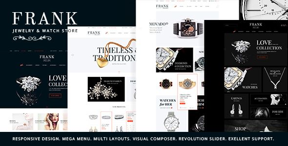 Jewelry & Watches Online Store (WooCommerce) - http://wpskull.com/jewelry-watches-online-store-woocommerce/wordpress-offers
