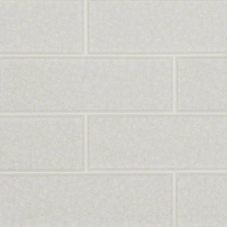 Frosted Icicle Glass Subway Tile Features A White Crackled Glass Finish  Creating A Light Reflecting Quality