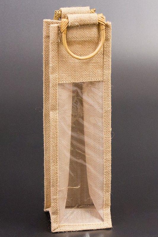 Dárková jutová taška na 1 láhev