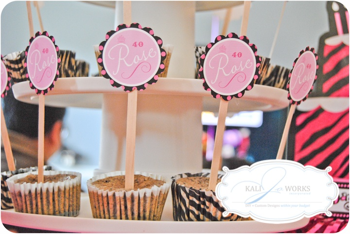 Created for Rose's 40 & Fabulous Surprise Party.  www.kalijoworks.com
