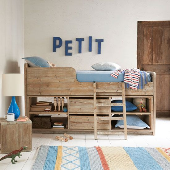 実用的な寝室の家具の子供たちが気に入るはず