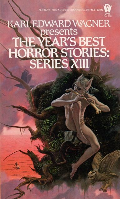 MICHAEL WHELAN - art for The Year's Best Horror Stories: Series XIII edited by Karl Edward Wagner - 1985 DAW Books