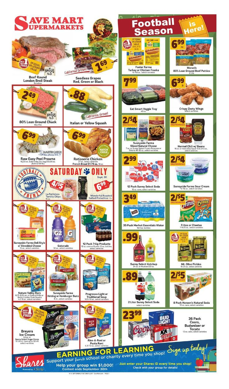 Save Mart Weekly ad September 27 - October 3, 2017 - http://www.olcatalog.com/save-mart/save-mart-weekly-ad.html