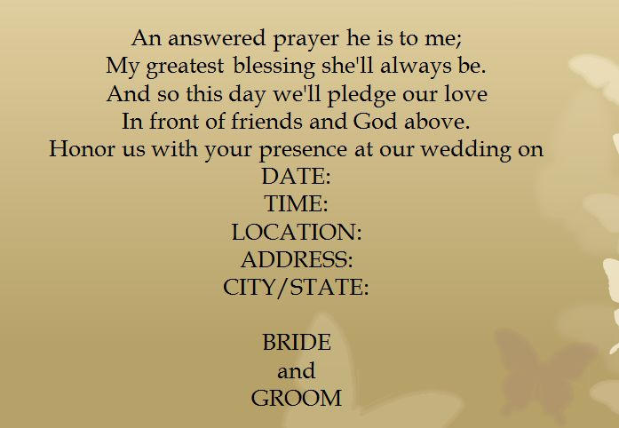 - 15 Samples for Casual Wedding Invitation Wording - EverAfterGuide                                                                                                                                                                                 More