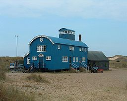 former lifeboat station, blakeney point nature reserve, norfolk