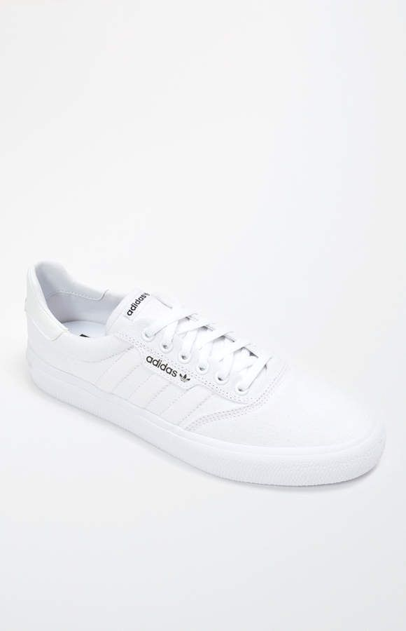 adidas 3MC Vulc White Shoes | White shoes, White fashion ...