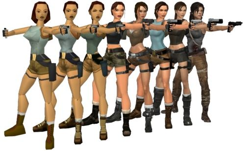 Evolution of Lara Croft #TombRaider via Reddit user MarsssMars