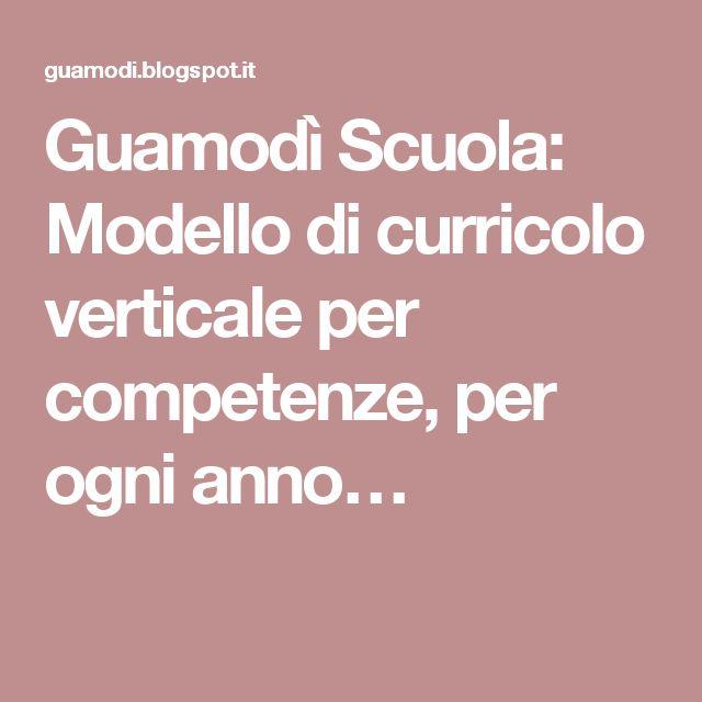 Guamodì Scuola: Modello di curricolo verticale per competenze, per ogni anno…
