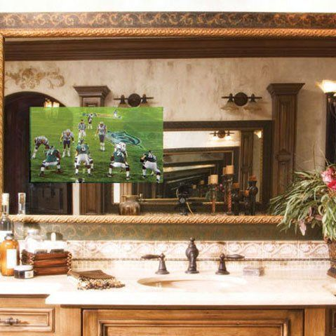 Bathroom Televisions That Hide Inside Mirrors