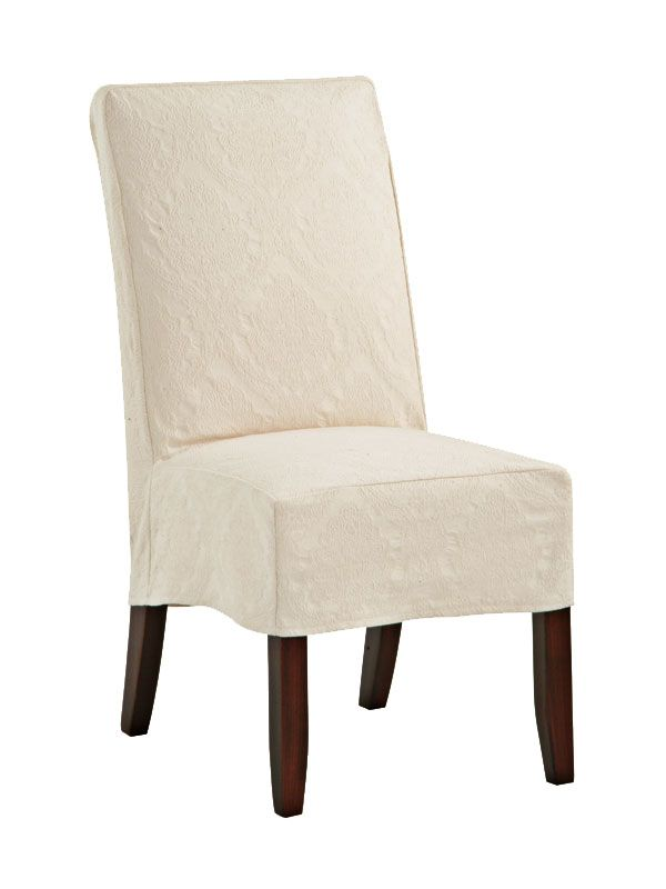 Cottage Home Furniture   Shoreline Slipcovered Parsonu0027s Chair #80