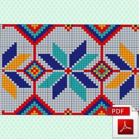 Wayuu Mochila Pattern Knitting scheme for a modern bag 3