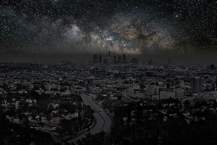 Come sarebbe il cielo notturno di Los Angeles se non fosse illuminata di notte