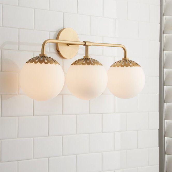 Dewdrop Globe Vanity Light 3 Light In 2019 Modern Bath Lights