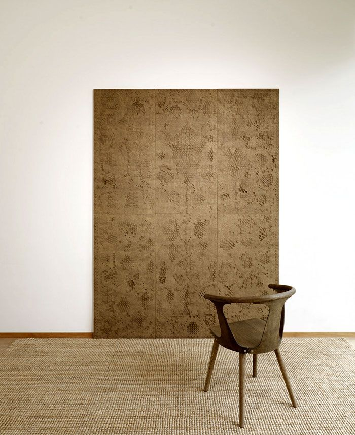 Gran RU Collection by Wilhelmiina Kosonen is an acoustic wall panels, an innovative way to create a visual experience using 3d-texture and ecological materials.