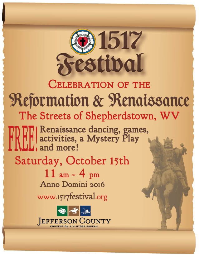 1517 Renaissance Festival is coming to Downtown Shepherdstown Oct.15th 2016! Vendors and events begin at 11am and go through 4pm! Admission is FREE, just bring some cash for all the yummy food and amazing crafts!