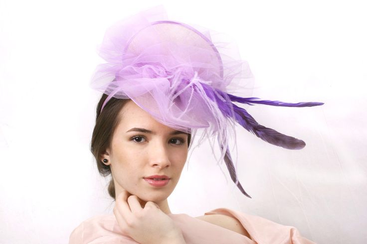 Pocahontas fascinator hat, Lilac fascinator, Melbourne cup hat, Light purple hat, Royal Ascot Hat, Lavender Kentucky derby hat, purple hat by IrinaSardarevaHats on Etsy https://www.etsy.com/listing/231406722/pocahontas-fascinator-hat-lilac