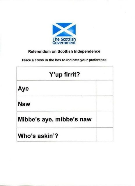 Scottish Independence, your thoughts?