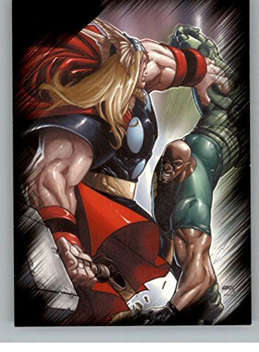 2010 Marvel Heroes and Villains #33 Thor vs. Gauntlet @ niftywarehouse.com #NiftyWarehouse #Thor #Marvel #Avengers #TheAvengers #Comics #ComicBooks