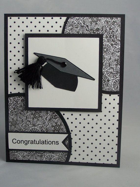 Stampin Up Handmade Greeting Card: Graduation Card, Class of 2015, Graduate Card, High School, College, Cap, Masculine. Boy Girl