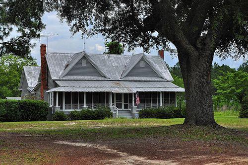 old folk victorian farmhouse | Montgomery County GA Folk Victorian Farmhouse Screened In Front Porch ...