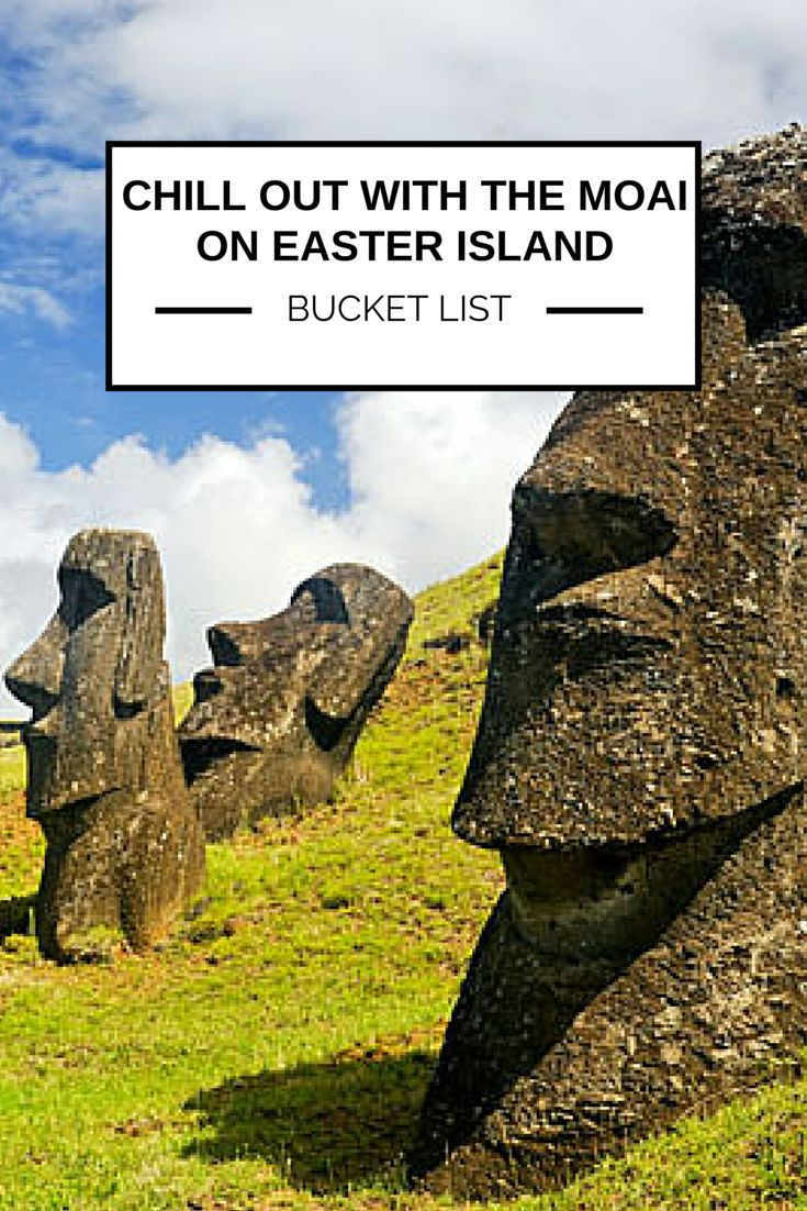 Chillin' with the Moai on Easter Island is on our #BucketList!