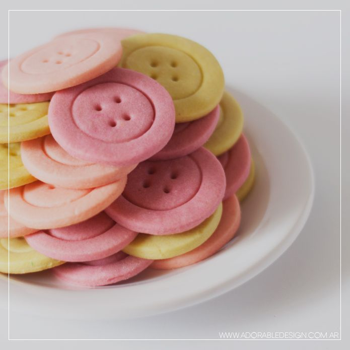 Button Cookies. - Adorable