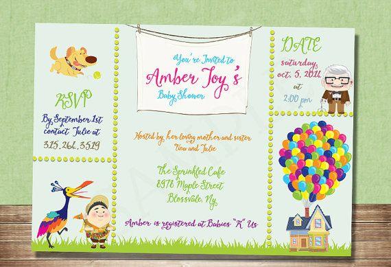UP Baby Shower Invitation-Inspired by Disney Pixar Movie ...