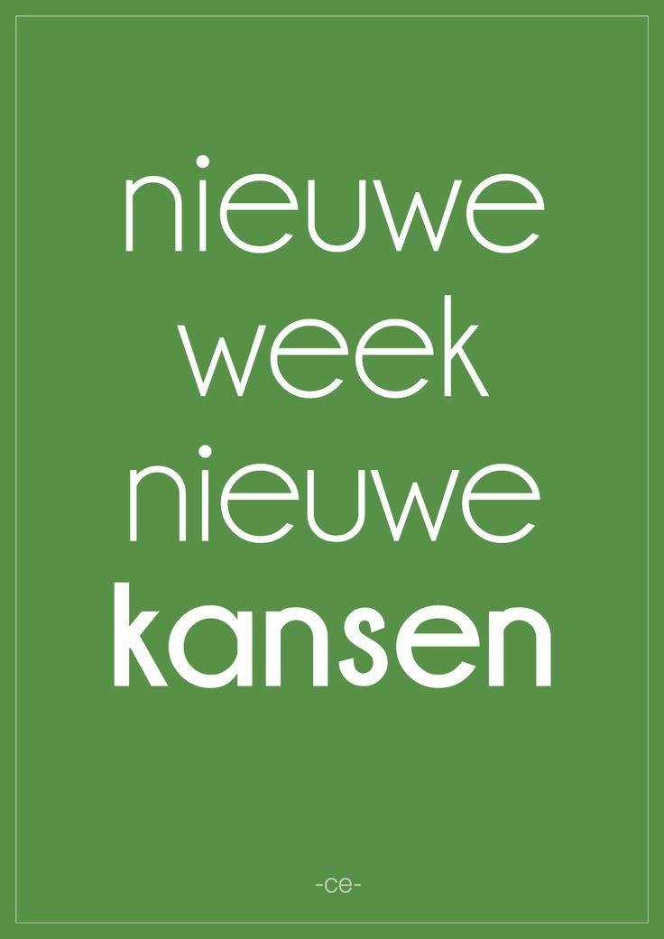 nieuwe week, nieuwe kansen. www.vitamine-ce.nl