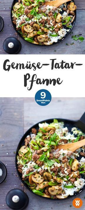 Gemüse-Tatar-Pfanne   9 SmartPoints/Portion, Weight Watchers, fertig in 25 min.
