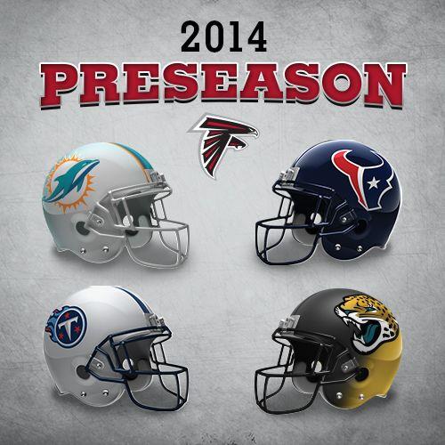 2014 Preseason Schedule #Falcons #RiseUp