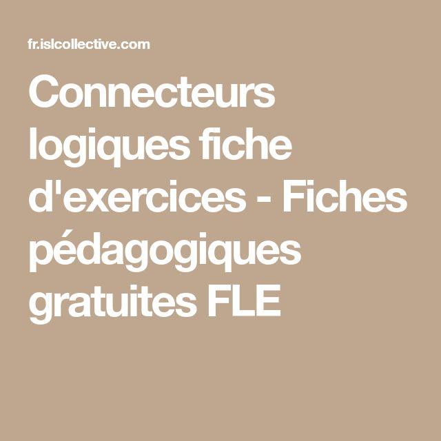 Connecteurs logiques | Connecteur logique, Fiches ...
