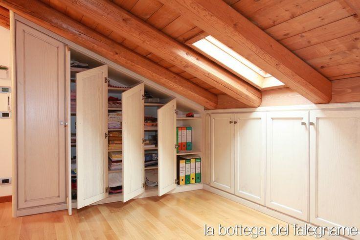 armadio per la mansarda house idea pinterest storage