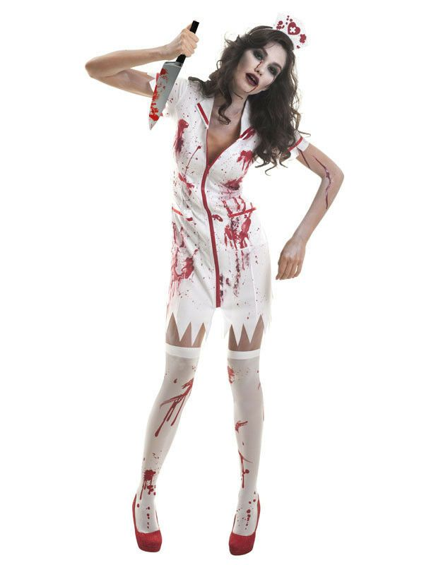af87d08694e2e Womens Zombie Nurse Uniform Halloween Fancy Dress Costume Hat Horror Outfit# Uniform#Halloween#Nurse. Find this Pin and more on Comic Cosplay ...