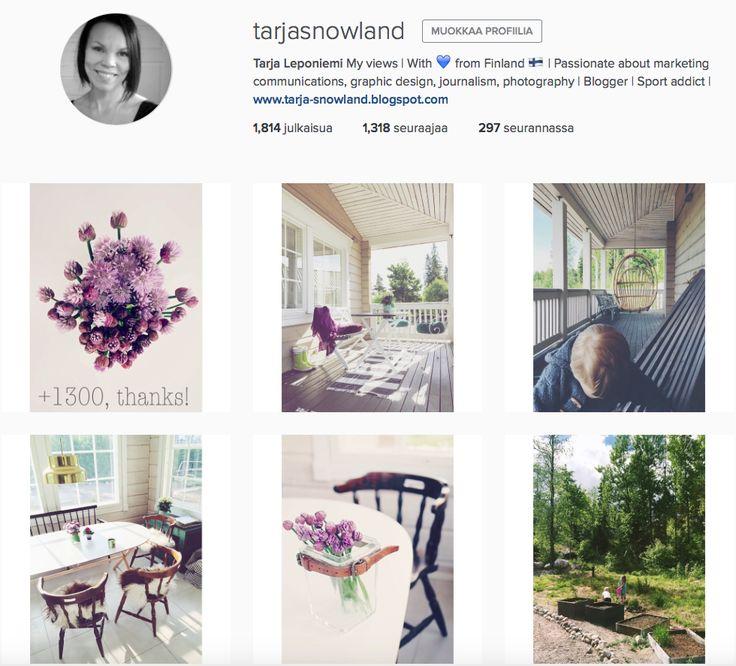 @tarjasnowland Instagram-yhteisössäni on yli 1300 seuraajaa. https://instagram.com/tarjasnowland/