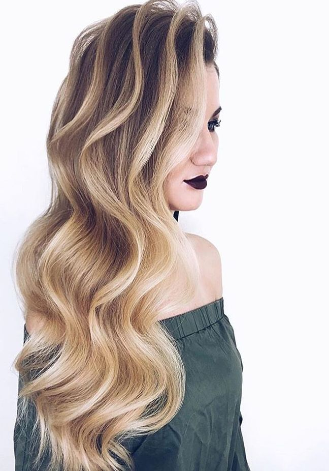 Best Ever Finger Curls With Balayage Tones Hairminia Trendy Hair Color Hair Color For Women Hair Color 2018