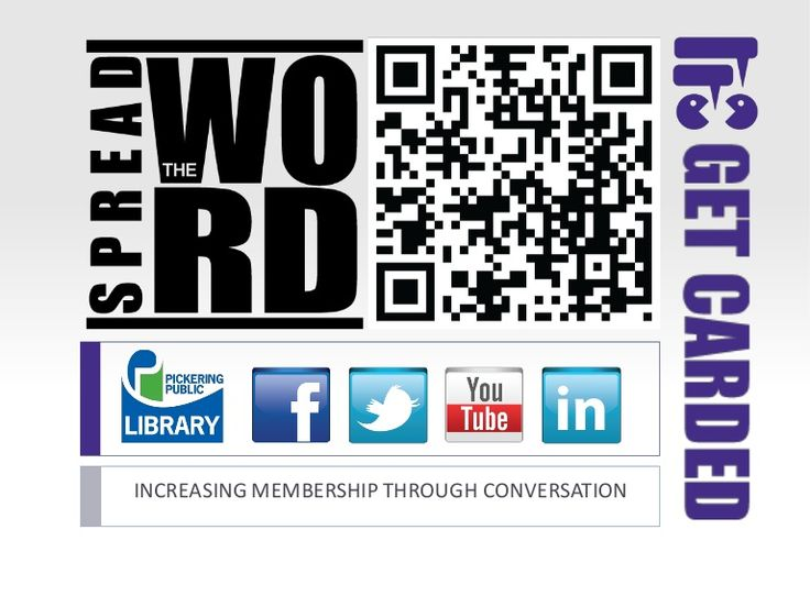 Spread the Word by Pickering Public Library via slideshare