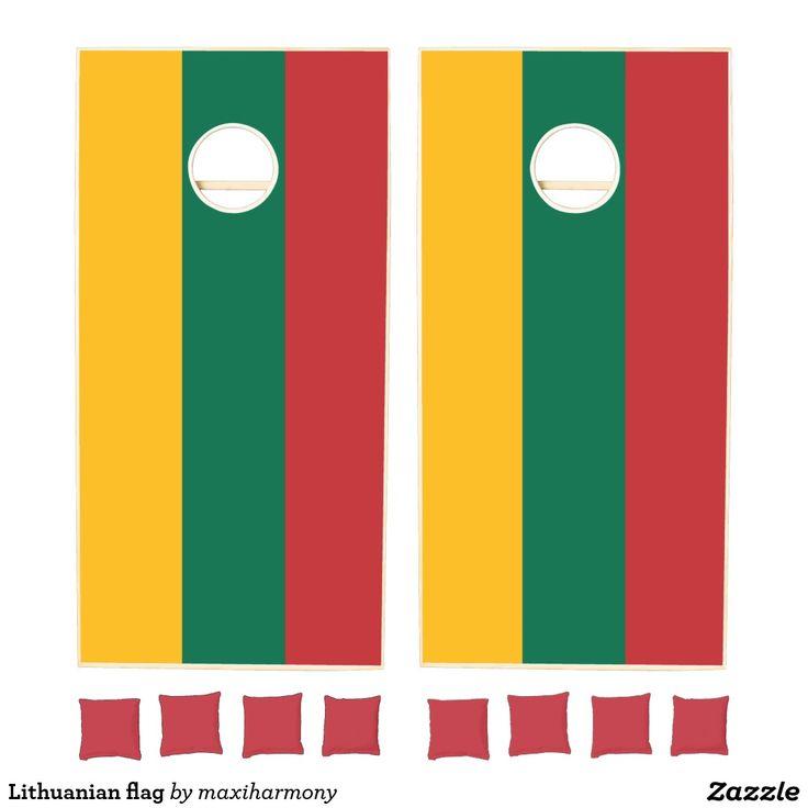 Lithuanian flag cornhole set