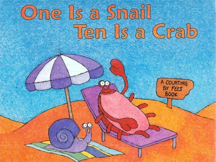 Title Slide of One is a snail, ten is a crab