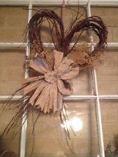 Rustic Valentine Twig Heart Shaped Door Decor