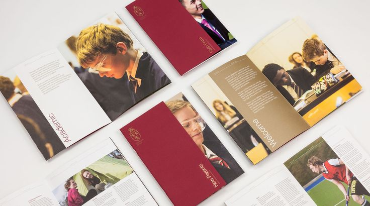 Cranbrook School Prospectus covers and inner page spreads