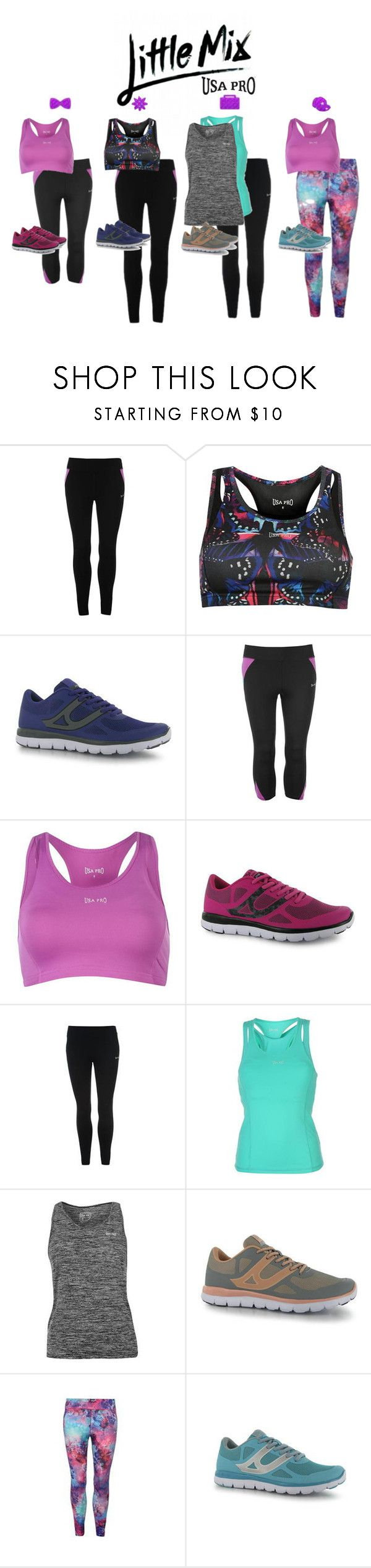 """Little Mix for USA Pro"" by alexsrogers ❤ liked on Polyvore"