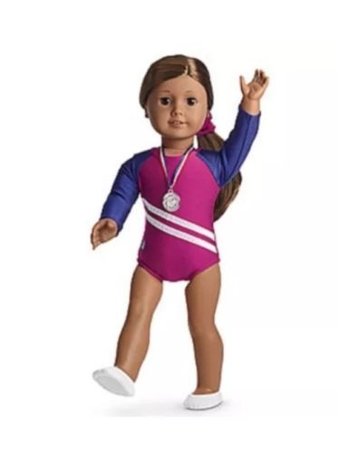 American girl gymnastics outfit set, #isabelle mckenna new!  #authentic, #award,  View more on the LINK: http://www.zeppy.io/product/gb/2/201594132300/